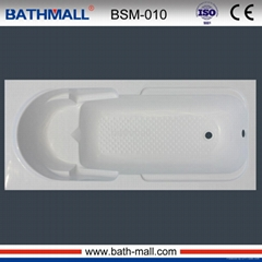 Hot fiberglass common bathtub with seat for adult