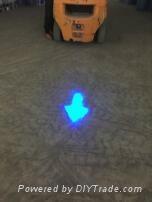Arrow Blue Point Led Warning Light Lamp Arrow Beam Forklift Blue Light for forkl
