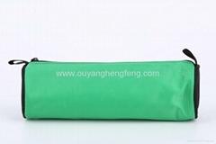 pure green cylinder  pencil nylon bag case
