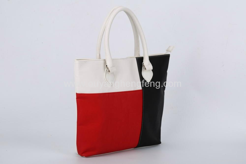 3 mixed color pu leather big tote shopper bag - 017 - OEM (China ... c5bcdf6d04bef