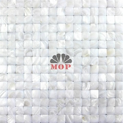 3D white shell board wall mosaic house decoration