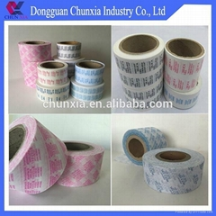 Printed packing materials
