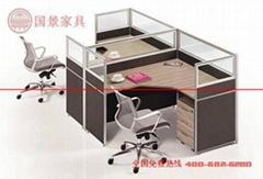 廠家直銷國景(gokeng)二人位屏風辦公桌