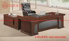 广东厂家直销实木总裁办公桌