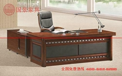 广东厂家直销现代简约实木经理办公桌