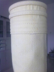 Polyester water and oil repellent filter bag