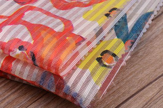 北京潮流时尚条纹印花面料F06246布纺供应 1