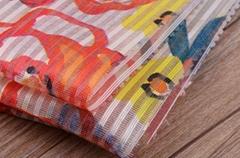 北京潮流時尚條紋印花面料F06246布紡供應