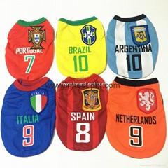 football team dog clothes