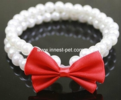 Pet Necklace Dog Pearls Pet Collar Dog Jewelry Charm
