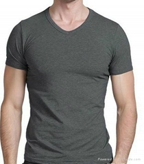 Men's blank V neck t shirt