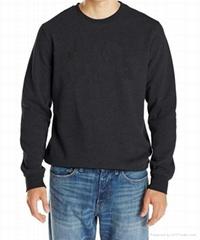 Men's round neck blank pullover sweatshirt