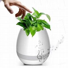 Smart Bluetooth Flowerpot with Touch Sense Music Speaker