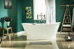 Luxury Skirted Doulbe Slipper Cast Iron Bathtub