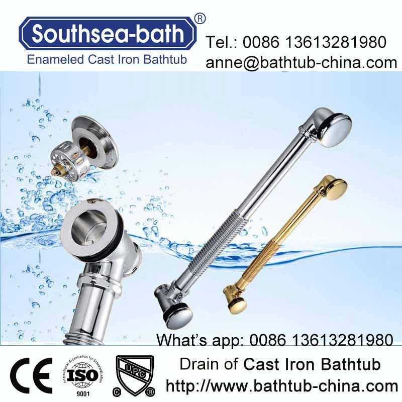 Simple Drop-in Commen Soaking Cast Iron Bathtub 5