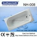 Simple Drop-in Commen Soaking Cast Iron Bathtub 1