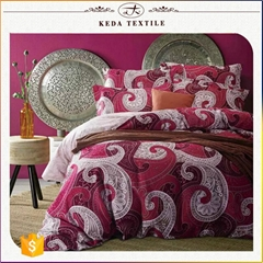 Luxury king size 4pcs 110gsm 100% polyester textile latest cheap Chinese bedding