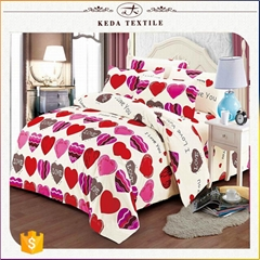 China textile wholesale cheap price 100% polyester disperse printed bed set