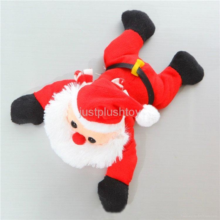 Christmas  santa father fridge magnet plush toy 1