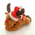 Christmas  santa father fridge magnet plush toy 3