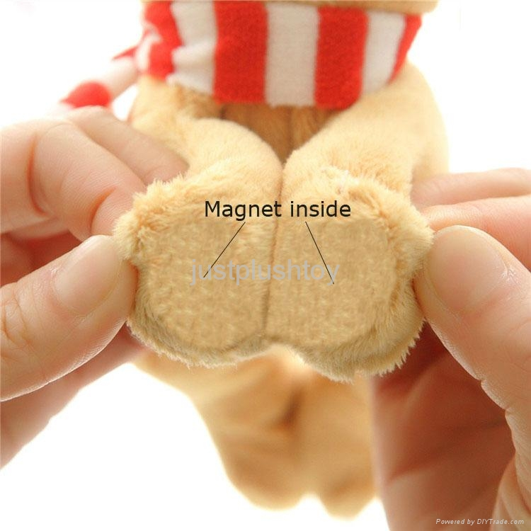 Christmas  santa father fridge magnet plush toy 4