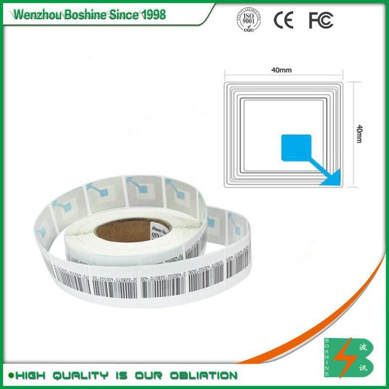 RF label 4*4CM Barcode EAS RF Soft Label RF soft tag for retail security sensor 1