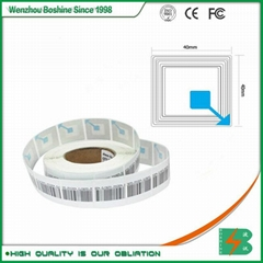 RF label 4*4CM Barcode EAS RF Soft Label RF soft tag for retail security sensor