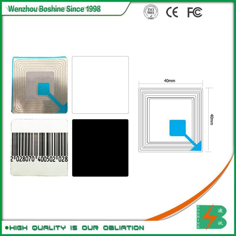 RF label 4*4CM Barcode EAS RF Soft Label RF soft tag for retail security sensor 5