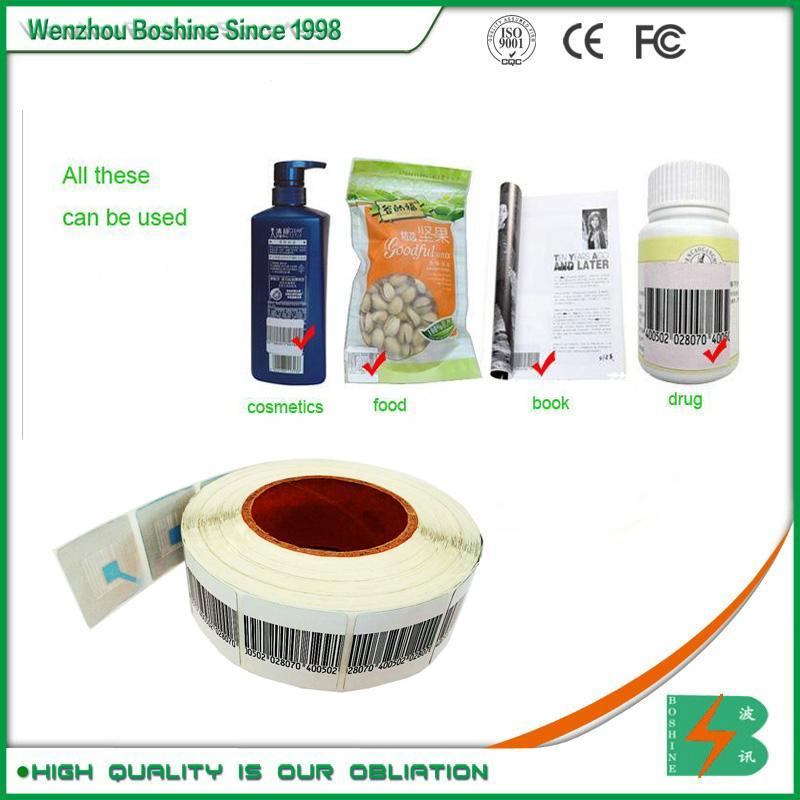 RF label 4*4CM Barcode EAS RF Soft Label RF soft tag for retail security sensor 2