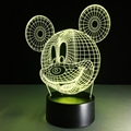 Funny cartoon design baby products Mickey Mouse shape 3d led desk lamp 4