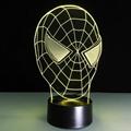 3D Spider-Man 7 Color Changing LED Night Light Energy Saving Desk Lamp 5
