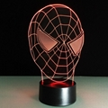 3D Spider-Man 7 Color Changing LED Night Light Energy Saving Desk Lamp 3