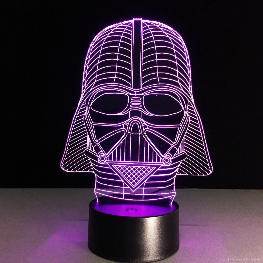 Luminarias Lamp Star Wars 3D  Visual Night Lights Table lamp 5