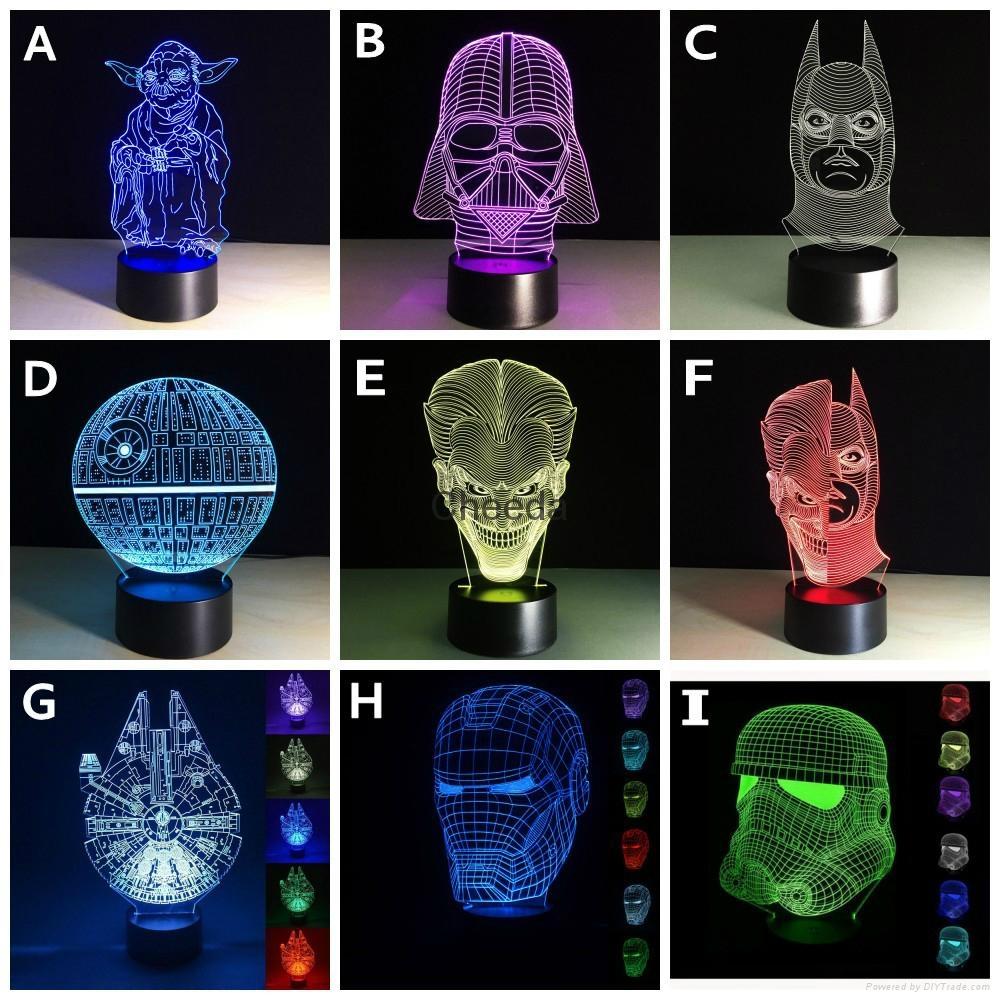 Luminarias Lamp Star Wars 3D  Visual Night Lights Table lamp 1