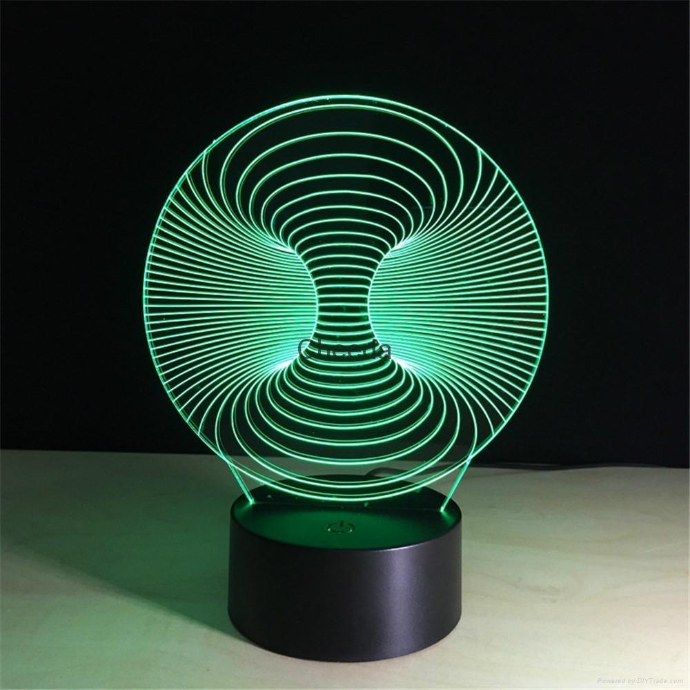 Wholesale Amazing 3d Illusion Light Lamp 3d Mini LED Light Night Decorative  2