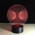 Wholesale Amazing 3d Illusion Light Lamp 3d Mini LED Light Night Decorative  3