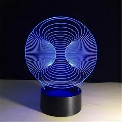 Wholesale Amazing 3d Illusion Light Lamp 3d Mini LED Light Night Decorative