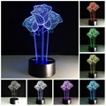 Beautiful Rose Flower 3D Optical Illusion Lamp Seven Color Changing Night Light 1