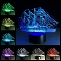 Creative 3D Sailboat LED Night Light