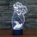 Fairy Tale Beautiful Mermaid Diy 3d Art Decorative Night Lights USB Nightlights  5