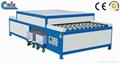 horizontal glass washing drying machine