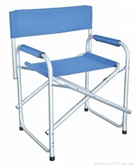 Portable and foldable camping director chair