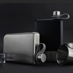 Promotion hip flask printing adventure stainless steel whisky flask