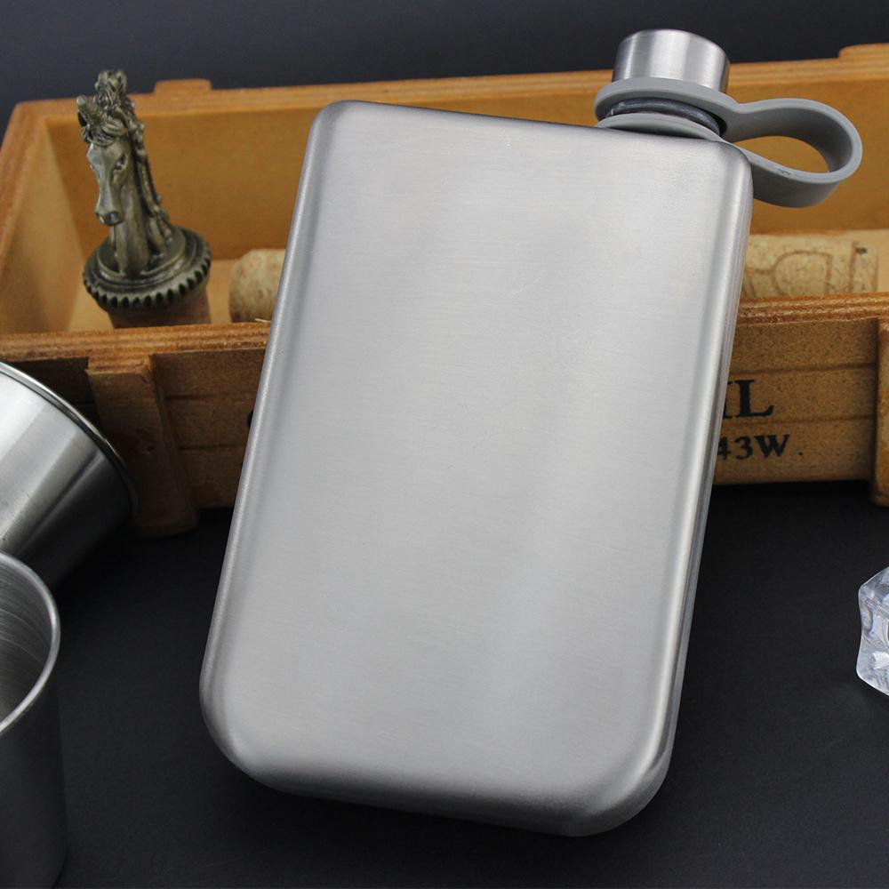 Promotion hip flask printing adventure stainless steel whisky flask  2