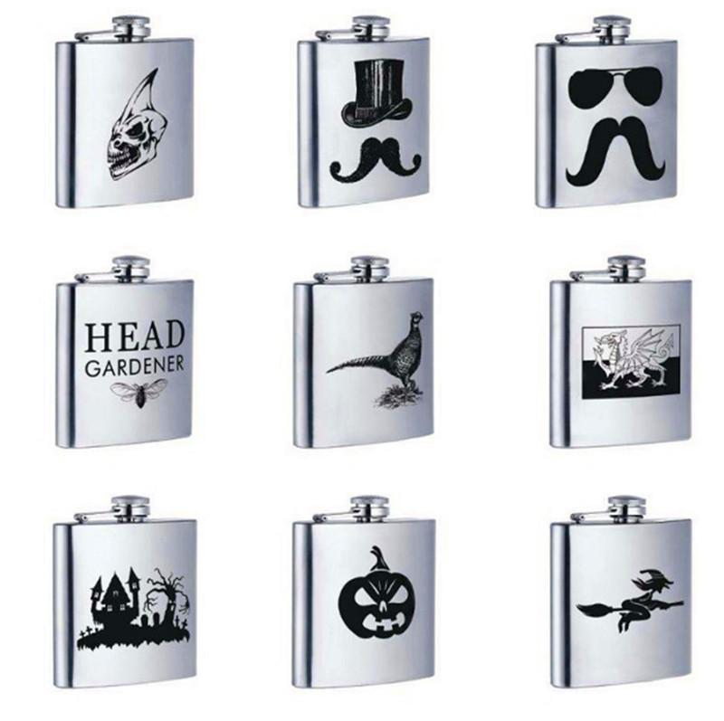 Custom logo high quality 304 stainless steel 6oz hip flask 1