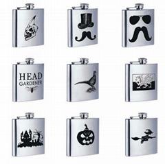 Custom logo high quality 304 stainless steel 6oz hip flask