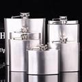Custom logo high quality 304 stainless steel 6oz hip flask 4