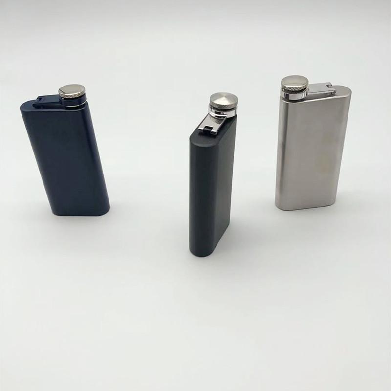 5 OZ stainless steel hip flask rectangles portable whisky mug 3