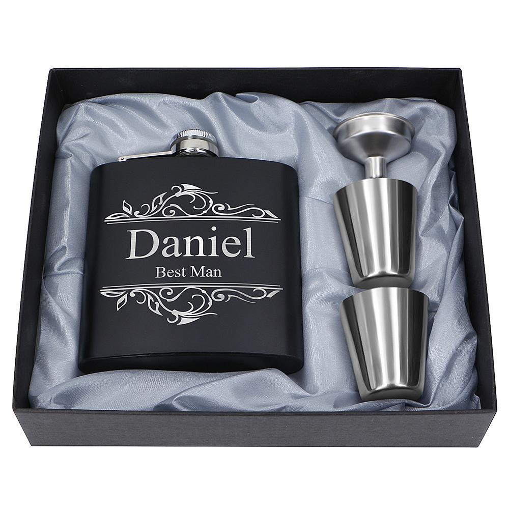 Portable Stainless Steel Hip Flask Flagon Set Pocket Flask Flagon  Whiskey Mug 2