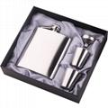 Portable Stainless Steel Hip Flask Flagon Set Pocket Flask Flagon  Whiskey Mug 4